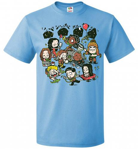 Let's Catch Fireflies Unisex T-Shirt Pop Culture Graphic Tee (5XL/Aquatic Blue) Humor