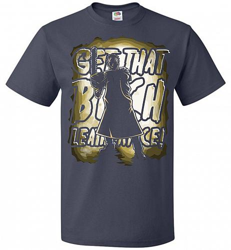 Get That B Leatherface! Adult Unisex T-Shirt Pop Culture Graphic Tee (5XL/J Navy) Hum