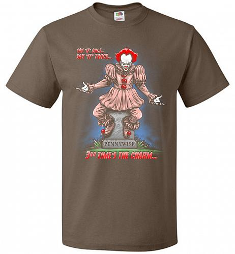 Pennywise The Dancing Clown Adult Unisex T-Shirt Pop Culture Graphic Tee (4XL/Chocola
