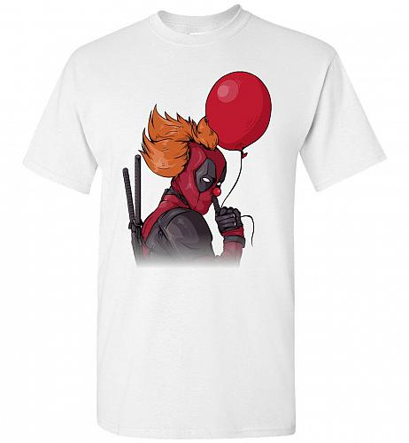 IT is Deadpool Unisex T-Shirt Pop Culture Graphic Tee (M/White) Humor Funny Nerdy Gee