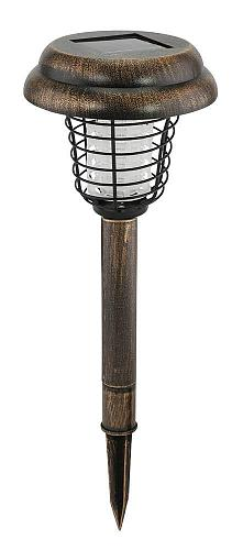:10689U - Solar Bug Zapper Path Light Black Stake