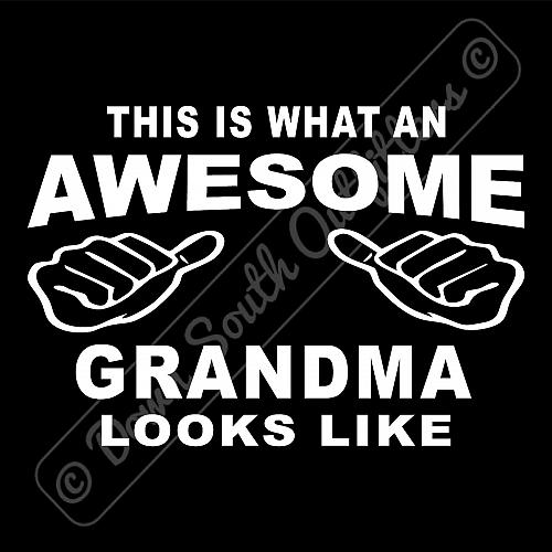 This Is What An Awesome Grandma Looks Like T-shirt (16 Tee Colors)