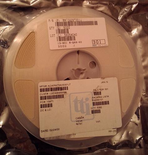 Lots of 5000: KOA RM73B2BT301J :: 300 Ohm Thick Film Chip Resistors