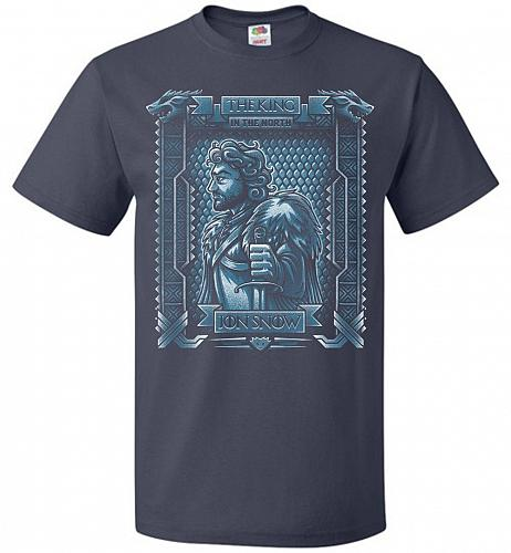 Jon Snow King Of The North Adult Unisex T-Shirt Pop Culture Graphic Tee (5XL/J Navy)