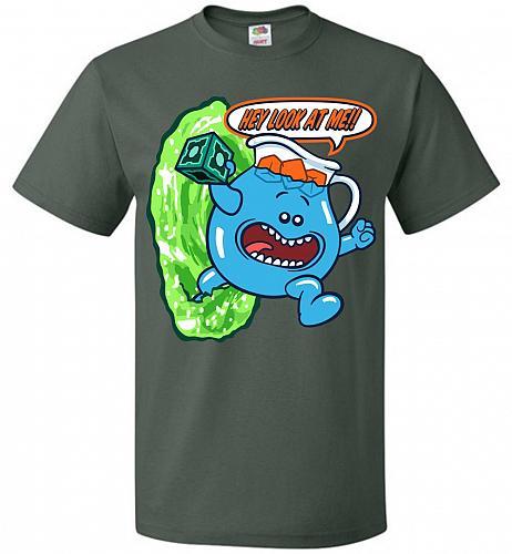 Meseeks Man Unisex T-Shirt Pop Culture Graphic Tee (XL/Forest Green) Humor Funny Nerd