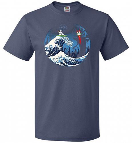 The Great Battle Unisex T-Shirt Pop Culture Graphic Tee (6XL/Denim) Humor Funny Nerdy