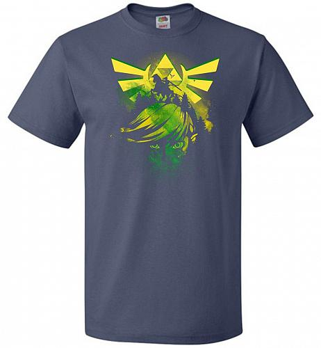 Hero of Time Unisex T-Shirt Pop Culture Graphic Tee (2XL/Denim) Humor Funny Nerdy Gee