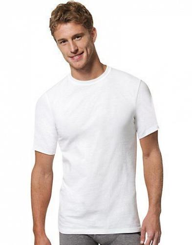 6 Hanes Men's X-Temp Crewneck White Undershirts #2535X3 sizes S,M,L,XL