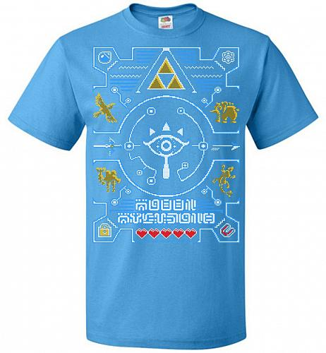 Legend Of Zelda Ugly Sweater Design Adult Unisex T-Shirt Pop Culture Graphic Tee (M/P