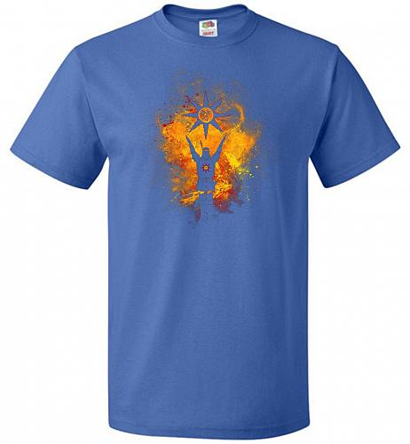 Praise The Sun Art Unisex T-Shirt Pop Culture Graphic Tee (3XL/Royal) Humor Funny Ner