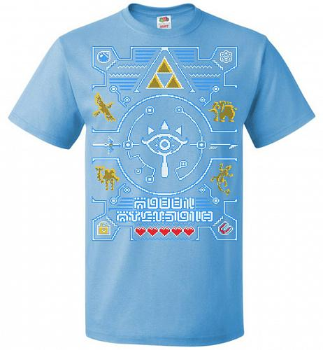 Legend Of Zelda Ugly Sweater Design Adult Unisex T-Shirt Pop Culture Graphic Tee (XL/