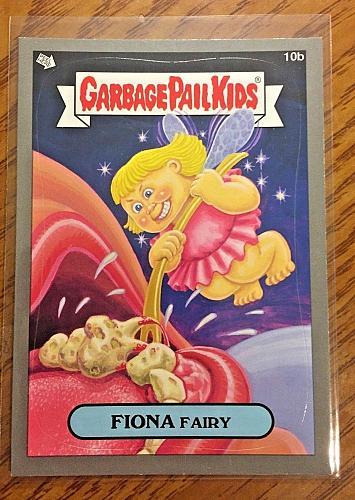 Garbage Pail Kids Bns1 Silver Border -Fiona Fairy - 10b Sticker 2012 GPK