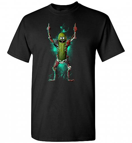 It's Pickle Rick! Unisex T-Shirt Pop Culture Graphic Tee (5XL/Black) Humor Funny Nerd
