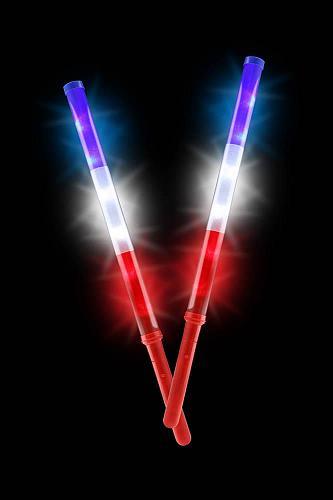 :10910U - Patriotic Light Up Batons Set Of 2