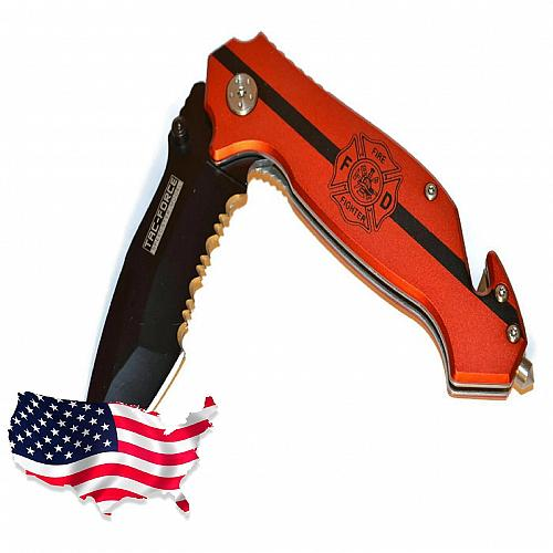 Tac-Force Spring Assisted Fire Fighter 715FD Folding Knife