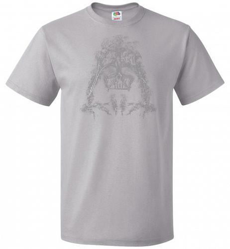 Darth Smoke Unisex T-Shirt Pop Culture Graphic Tee (XL/Silver) Humor Funny Nerdy Geek