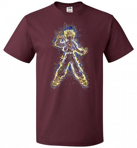 Mysterious Youth Trunks Unisex T-Shirt Pop Culture Graphic Tee (4XL/Maroon) Humor Fun