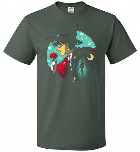 Knight Of The Moonlight Unisex T-Shirt Pop Culture Graphic Tee (XL/Forest Green) Humo