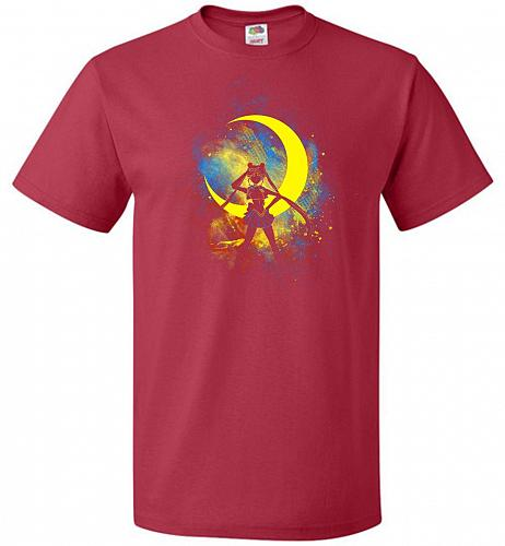 Moon Art Unisex T-Shirt Pop Culture Graphic Tee (5XL/True Red) Humor Funny Nerdy Geek