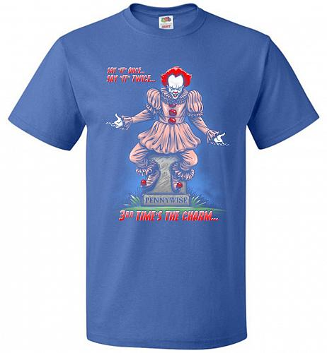 Pennywise The Dancing Clown Adult Unisex T-Shirt Pop Culture Graphic Tee (2XL/Royal)