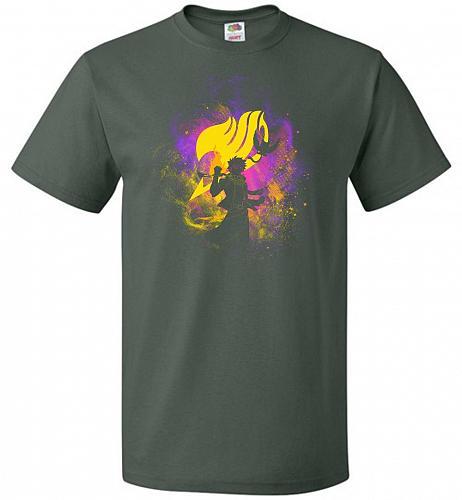 Dragneel Art Unisex T-Shirt Pop Culture Graphic Tee (M/Forest Green) Humor Funny Nerd