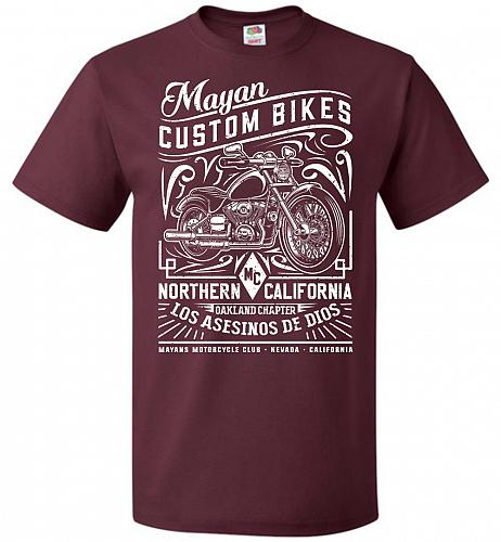 Mayan Custom Bikes Sons Of Anarchy Adult Unisex T-Shirt Pop Culture Graphic Tee (S/Ma