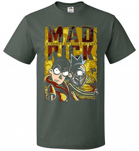 Mad Rick Unisex T-Shirt Pop Culture Graphic Tee (5XL/Forest Green) Humor Funny Nerdy