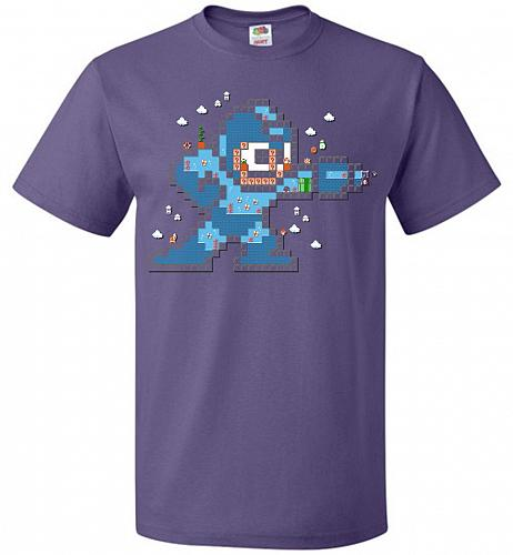 Mega Maker Unisex T-Shirt Pop Culture Graphic Tee (3XL/Purple) Humor Funny Nerdy Geek
