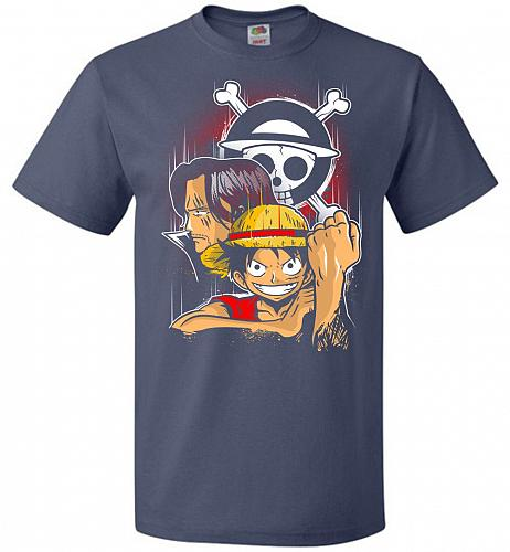 Pirate King Unisex T-Shirt Pop Culture Graphic Tee (L/Denim) Humor Funny Nerdy Geeky