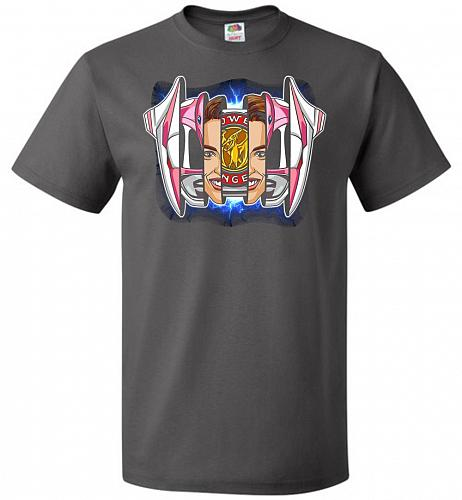 Pink Ranger Unisex T-Shirt Pop Culture Graphic Tee (5XL/Charcoal Grey) Humor Funny Ne