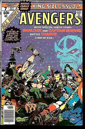 Avengers Annual #7 Jim Starlin DEATH OF WARLOCK Guardians of the Galaxy THANOS
