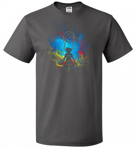 Kingdom Art Unisex T-Shirt Pop Culture Graphic Tee (S/Charcoal Grey) Humor Funny Nerd
