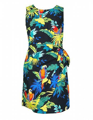 Ladies Parrots Paradise Short Sarong Dress #RJ-W152S-98 Size: MED