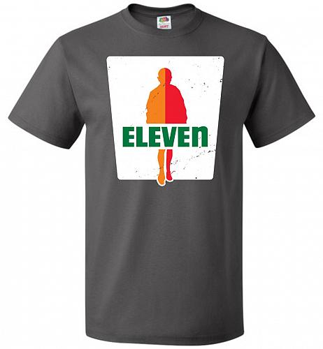 0-Eleven Unisex T-Shirt Pop Culture Graphic Tee (6XL/Charcoal Grey) Humor Funny Nerdy