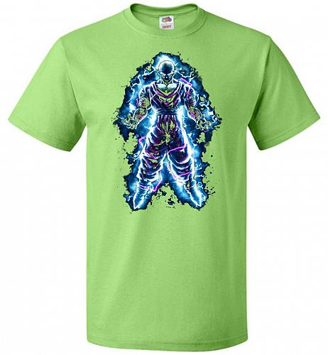 Piccolo Unisex T-Shirt Pop Culture Graphic Tee (4XL/Kiwi) Humor Funny Nerdy Geeky Shi