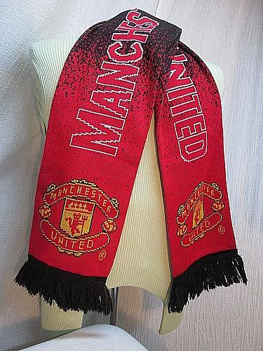"""M175c MANCHESTER UNITED SCARF OFFICIAL LICENSED ,100% ACRYLIC 57"""" X 7"""" SOCCER"""
