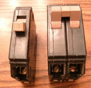 Lot of 2: Cutler-Hammer Type CH Circuit Breakers