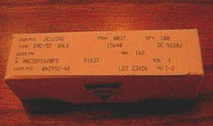 100: Dale RNC55H1620FS Military Metal Film Resistors
