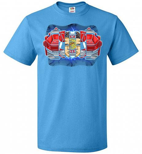 Red Ranger Unisex T-Shirt Pop Culture Graphic Tee (L/Pacific Blue) Humor Funny Nerdy