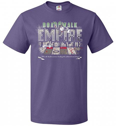 Boardwalk Empire Unisex T-Shirt Pop Culture Graphic Tee (L/Purple) Humor Funny Nerdy