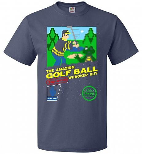 Happy Golf Nintendo Parody Cover Adult Unisex T-Shirt Pop Culture Graphic Tee (2XL/De