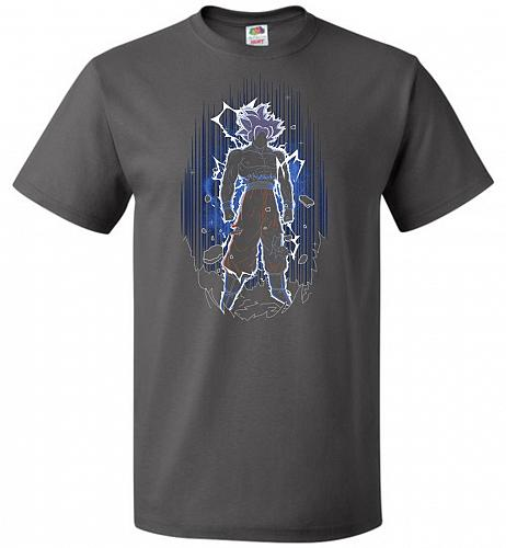 Shadow Of The Ultra Instinct Unisex T-Shirt Pop Culture Graphic Tee (M/Charcoal Grey)