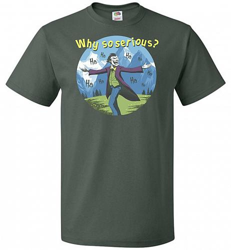 The Sounds Of Joker Unisex T-Shirt Pop Culture Graphic Tee (M/Forest Green) Humor Fun