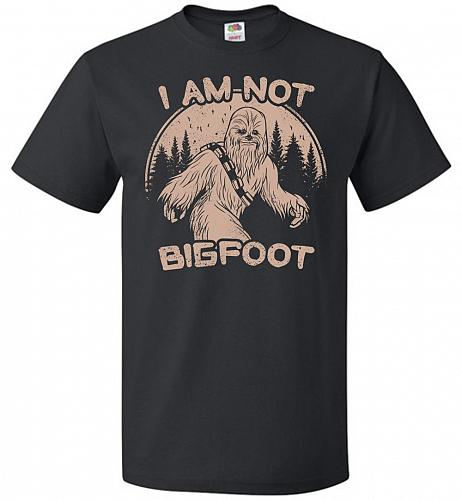 I'm Not Bigfoot Unisex T-Shirt Pop Culture Graphic Tee (L/Black) Humor Funny Nerdy Ge