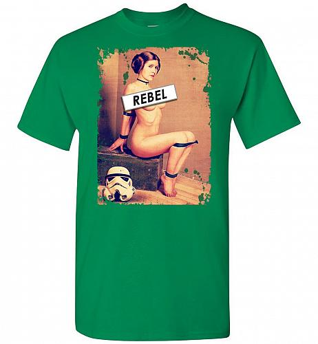 Princess Leia Rebel Unisex T-Shirt Pop Culture Graphic Tee (L/Turf Green) Humor Funny