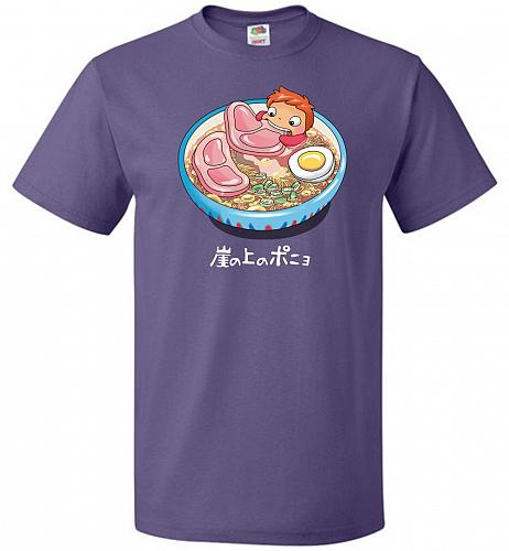 Noodle Swim Unisex T-Shirt Pop Culture Graphic Tee (L/Purple) Humor Funny Nerdy Geeky