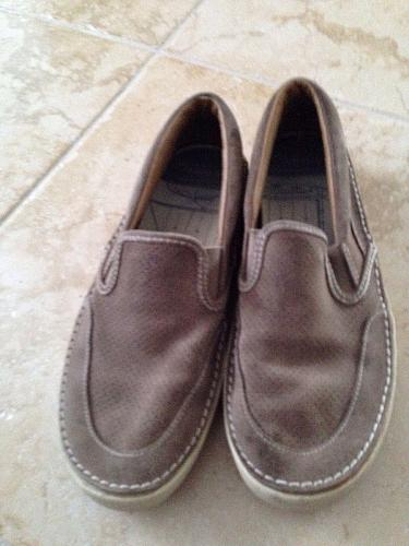 men's suede slip on sperry topsiders shoes size 10
