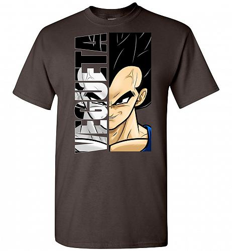 Vegeta Unisex T-Shirt Pop Culture Graphic Tee (3XL/Dark Chocolate) Humor Funny Nerdy