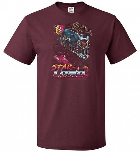 Retro Star Lord Unisex T-Shirt Pop Culture Graphic Tee (3XL/Maroon) Humor Funny Nerdy