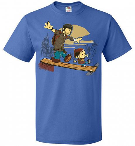 Just the 2 of Us Unisex T-Shirt Pop Culture Graphic Tee (3XL/Royal) Humor Funny Nerdy